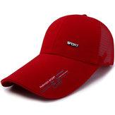 メンズサマーメッシュストラップバックお父さんスナップバック野球帽