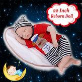 Силиконовый 22inch Reborn Dolls Детские Реалистичные Новорожденные Куклы Подарок Ручной Работы