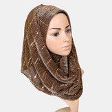 Frauen Wicked Pailletten Stirnband Schal Arabian Schal
