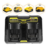 10.8V-20V DCB102 Dual Rechargeable Power Tool Battery Charger For Dewalt