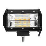 5 Polegadas LED Trabalho Barra de Luz Condução Lâmpada Inundações Pods Cor Dual para Off-Road Truck Trailer 4WD