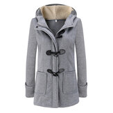 Women Winter Thick Hooded Long Sleeve Casual Coats