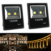 100W Водонепроницаемы LED Ultra Thin Flood Light Outdooors Сад Spot Lightt Landscape Лампа