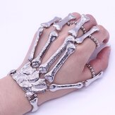 Halloween Props Punk Finger Bracelet Gothic Skull Skeleton Bone Nightclub Party Decoration
