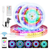BlitzWolf® BW-LT31 5M / 10M IC Smart Wi-Fi integrado RGB Magic LED Strip Light + 40Keys IR Controle Remoto Trabalhe com Alexa Google Assistant Christmas Decorations Clearance Christmas Lights