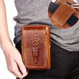 Męska skórzana torba na telefon Retro 6 cali Saszetka na pas z szlufką na pasek
