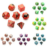 7pc / set giochi TRPG gioco dices d4-d20 più lati dadi 6color