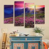 4カスケードモダンアンフレーミングマウンテンシーンキャンバスペインティング装飾的な壁の写真ホームデコレーション
