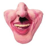هالوين اللاتكس نصف قناع الوجه مضحك تنكر مخيف لعيد الميلاد الزينة