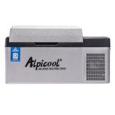 ثلاجة السيارة ALPICOOL C20 20L مع فريزر منزلي رقمي عرض التطبيق كونرتول ضاغط تبريد سريع للتخييم القوارب بار متنقل ثلاجات صغيرة