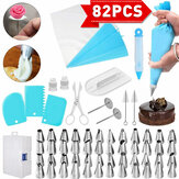 82 stks / set Cake Decorating Tools Set DIY Cake Piping Tips Draaitafel Roterend