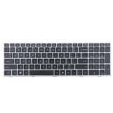 Laptop Replace Keyboard for HP ProBook 4540 4540S 4545 4545S Notebook with Silver Frame