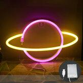 Светодиодная планета Шаблон неоновый свет двойного назначения Батарея USB зарядка домашний декор комнаты ночник для клубной спальни гости