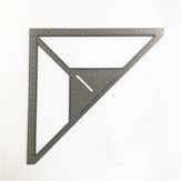 35cm Angle Ruler Metric Aluminum Alloy Triangular Measuring Ruler Woodwork Speed Square Triangle Angle Protractor
