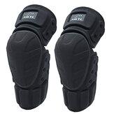 1 par ao ar livre moto pad joelho da bicicleta da motocicleta preto protector almofadas de joelho guardas de proteção