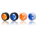 65*27mm Blue/Orange Rubber Wheels for TT Motor   Smart Chassis Car Accessories