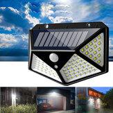 ARILUX® 100 LED Solar Powered PIR Motion Sensor Wall Light Outdoor Garden Lamp 3 Modes
