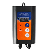 Regulador de temperatura del termostato de la estera del calor de 1000W Digitaces para la germinación Planta