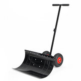 29 Inch Wheeled Snow Shovel Adjustable Height Multi-angle Snow Pusher Garden Snow Plow Shovel with Wheels