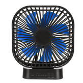 Mini Draagbare 3-Speed USB Timing Desk Fan 5000mAh Batterij Oplaadbare Fan-Blue / Black Fan Blade