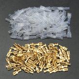 100個の銅4.8ミリメートルの女性スペードの圧着端子22~16AWG
