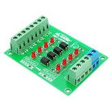 24 В до 5V 4-канальная плата для изоляции оптопары Изолированный модуль Уровень сигнала на плате уровня напряжения 4Bit