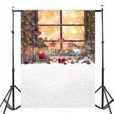 5x7ft عيد الميلاد نافذة الفينيل خلفية التصوير استوديو الصور الدعائم