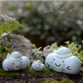 Micro Blue Clouds Landscape Resin Potted Plant Microlandschaft Garden DIY Ornaments