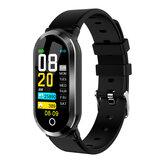 XANES® T1 Bracelet d'exercice de remise en forme avec moniteur de fréquence cardiaque étanche avec écran couleur et écran couleur Mi Bande