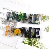 Amour maison famille forme lettre moule décoration bricolage à la main cristal époxy amour anglais mot combinaison Silicone moule