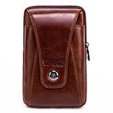 メンズ本革ビンテージウエストバッグビジネスクロスボディバッグ携帯電話バッグ6インチ電話