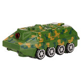 Electric Acousto-optic Universal Wheel Transform Armed Vehicle Model with LED Lights Music Diecast Toy for Kids Gift