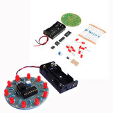 DIY 4017 Luz de agua corriente NE555 LED Caballo Race Lámpara Flash Kit