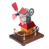 STEM High Speed Stirling Engine Windmill Fan Propeller Zewnętrzny silnik spalinowy Model Decor Gift