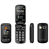 Mafam F899 2.4 pulgadas Dual Pantalla 2800mAh FM Vibración SOS Fast Quick Torch Loud Volume Flip Feature Phone