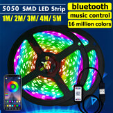 1M/2M/3M/4M/5M 5050 SMD bluetooth APP Smart LED Strip Light USB Waterproof RGB TV Background Bar Lighting