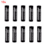 10pcs 3.7V 6000mAh 18650 Unprotected Rechargeable Li-ion Battery