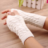 Crochet Knitting Warm Winter Warmer de la mano Guantes