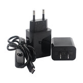 Catda C1900 Split Style Power Supply Kit Charger and Type-C Switch Line 5V3A EU/US Plug for Raspberry Pi 4B
