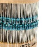 3120pcs 1% 1 / 4W Kit de resistor de filme de metal 156 Valor 1R-10M Ohm Component Pack