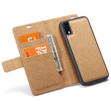 WHATIF Protective Case For iPhone XR Waterproof Kraft Paper Magnetic Detachable Wallet