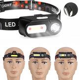 BIKIGHT USB recargable COB Headlamp Running cámping pesca Ciclismo Linterna Sensor Luz de trabajo