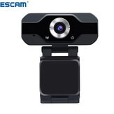 ESCAM PVR006 1080p 2MP H.264 Mini webcam portatile HD 1080p Web PC fotografica Trasmissione live conveniente con Microfono Videoregistratore digitale USB