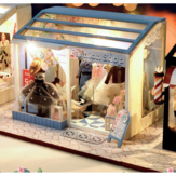 TIANYU DIY Doll House TD38 Clothing Store Creative Modern Shop Handmade Doll House With Furniture