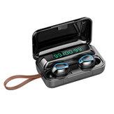 Bakeey F9-5 TWS écouteurs bluetooth écouteurs magnétiques sans fil 9D HiFi antibruit casques étanches avec boîtier de chargement de microphone à lanière