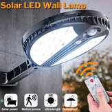 70 LED Control remoto Solar Power Wall Light PIR Motion Sensor al aire libre Solar Lights Garden Yard Lámpara