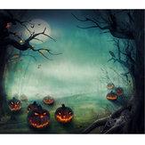 5x7FTビニールハロウィンかぼちゃの木の写真撮影の背景の背景のスタジオの小道具
