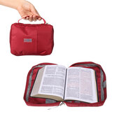 Large Bible Study Book Holy Cover Case Carry Bag Study Book Protective Canvas Handbag