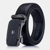 BULLCAPTAIN Piel Genuina Primera capa de cuero Hebilla automática informal de negocios Cinturón Cuero Cinturón para hombres