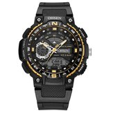 OHSEN AD1705 Digital Watch Dual Display Multifunction LED Sport Swimming Men Watch